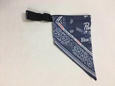 "PBR Pabst Blue Ribbon Beer Dog Bandana Collar 16-18"" BRAND NEW Pet Animal"