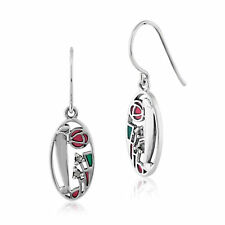 Gemondo Sterling Silver 6pt Marcasite Rennie Mackintosh Style Drop Earrings
