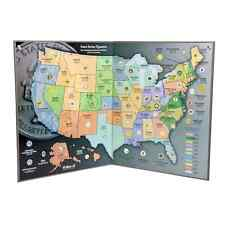 COIN COLLECTOR'S MAP - STATE QUARTERS (1999-2009) - H.E. HARRIS BRAND