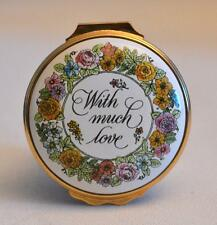 Halcyon Days Enamels Mother's Day 1983 With Much Love Trinket Box