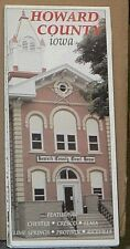 Late 1990's Street Map of Howard County, Iowa with Local Advertising