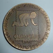 """Tschechoslowakei, Medaille """"Nationale Ausstellung Für Jugendbriefmarken""""."""