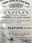 Antique 1891 Victorian Jewelry Trade Advertising Platinum Tools Watchmaker ++