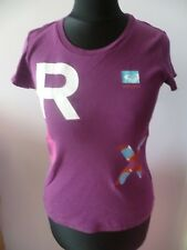 ROXY (Quiksilver) Deep Pink Short Sleeve T-Shirt with Motif S Small 8 - 10 36