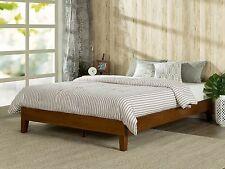 Wood Bed Frame Full Size Solid Platform Modern Set For Mattress