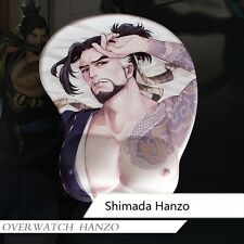 Hanzo 3D Breast Mouse pad Overwatch Shimada Hanzo Silicone Play Mat War Gaming