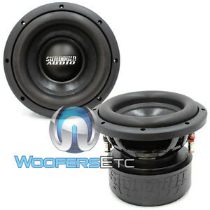 "(2) SA-8 V1.5 D4 SUNDOWN AUDIO SUBS 8"" DVC 4 OHM 500 WATTS RMS SUBWOOFERS NEW"