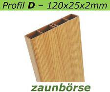 "Musterstück - Kunststoffbretter D (120x25x2mm) ""lärche"" Profiware -Zaunslatten"
