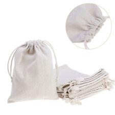 10x Linen Gift Bags Pouch Drawstring Burlap Jute Sack Jewelry Wedding Favor Bag