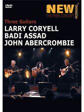 Larry Coryell John Abercrombie Badi Assad tres guitarras DVD de música de rendimiento