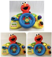 Sesame Street Giggle N Go Driver Elmo Steering Wheel Toy Talking Mattel 2006