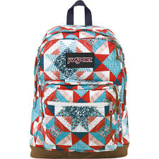 """NWT JANSPORT """"RIGHT PACK WORLD"""" 15"""" LAPTOP BACKPACK - MULTI YANKEE DOODLE"""