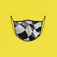 """Checkered Flag"" Face Mask ** FREE SHIPPING by Canada Post Letter Mail **"