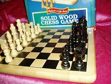 """NIB, """"SOLID WOOD CHESS CLASSIC GAME DELUXE COMPLETE"""", 1996, Cardinal Industries"""