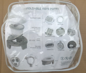 3in1 Portable Travel Potty & Toddler Toilet Trainer Seat Foldable