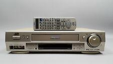 JVC HR-S7600EK Video Cassette Recorder S-VHS Super VHS VCR TBC DNR with Remote
