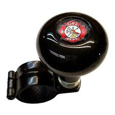 Black Steering Wheel Suicide Spinner Power Handle Knob Car & Truck - FIRE DEPT