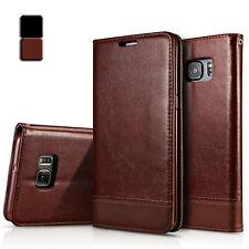 Für Galaxy S7 Tasche Business Hülle Leder Synthetisch Schwarz Braun Case Cover