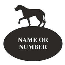 Great Dane Dog Metal Oval House Plaque
