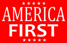 2 AMERICA FIRST ~ PRO USA TRUMP SUPPORTER CLINTON STICKERS ~ SHIPS SAME DAY
