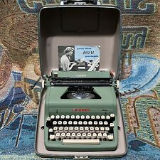 Vintage Green Royal Quiet Deluxe Portable Typewriter with the Case - Works Read