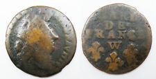 1 piece de 1 Liard de France Louis XIV 1714 W