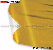 """39"""" x 47""""Piece Self Adhesive Reflect A Gold Heat Wrap Barrier High Quality L"""