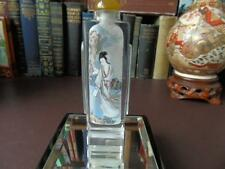 Corte De Mano/Pulido chino Cristal tabaco botella-Geisha pintado inversa