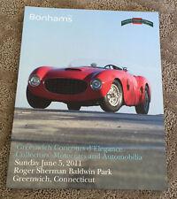 2011 Bonhams Greenwich Concours d'Elegance Catalog Auction Brochure