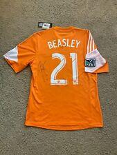 *BNWT* Adidas Houston Dynamo 2013-14 Home Jersey DaMarcus Beasley *SIGNED* Sz M