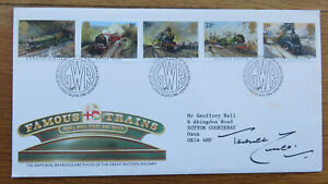1985 Famous Trains, British Philatelic Society, GWR 150 FDC Signed Terence Cuneo