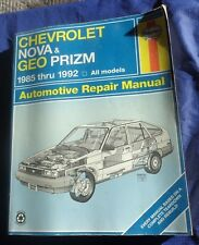RP2504 Haynes Chevrolet Nova Geo Prizm 1985-1992 Automotive Repair Manual