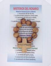 Rosary Finger Olive Wood Ring Prayer Catholic Holy Land Gift Rosario Jerusalem