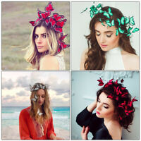 3D Fashion Women Bridal Butterfly Headband Hairband Wedding Hair Accessories Hot