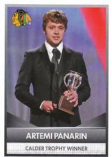 16/17 PANINI NHL STICKER CALDER TROPHY WINNER #7 ARTEMI PANARIN BLACKHAWKS 24694