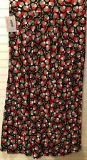 LuLaRoe Maxi Skirt 2X-Large 2XL Cream Green Black Red Multi Color Geometric New