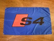 AUDI S4 BLUE FLAG BANNER LOGO 3X5FT B5 C5 B6 B7 B8 B8.5 V8 2.7T BITURBO 3.0T