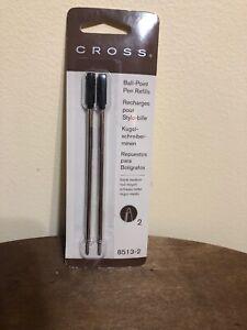 Cross Ball-Point Pen Refills ~ Black Medium, 2 Pack - 8513-2  GENUINE