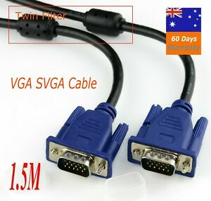 1.5M VGA SVGA 15PIN Male To Male Extension PC Monitor LCD Cable