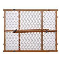 Baby Safety Gate Door Walk Thru Extra Wide Construction Pet Fence Wood Dog Gate