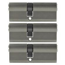 3x perfil cilindro 70mm 30/40 not + peligro 15 clave uniforme Castillo