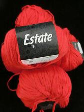 (7,90 €/100 g): 250 Gramm Lana Grossa Estate, Bändchengarn, Fb.8 rot #419