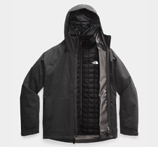 North Face Men's Thermoball Eco Snow Triclimate Jacket Sz XXL Grey/Black