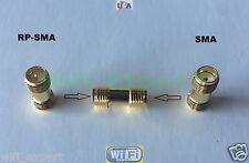 Small SMA Female To RP-SMA Female connect SMA to RP-SMA RF Connector Adapter USA