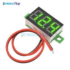 "0.36"" 2 Wire LED Digital Panel Meter Voltage Voltmeter Car Motor Yellow Green"