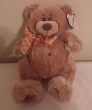 """First Main Teddy Bear NWT 10"""" Plush Stuffed Animal Toy"""