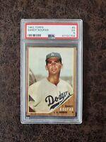 1962 Topps Baseball Sandy Koufax #5 PSA 5 - Los Angeles Dodgers