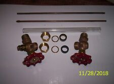 """Steam Boiler Sight Glass Valve Set Complete with9"""" sight glass USA"""