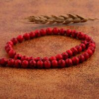 """Natural Red Turquoise Round Beads Gemstone Loose Beads Strand 15.5"""" 8mm"""