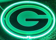 """Green Bay Packers 3D Neon Sign 12"""" X 9"""" Bar Light Gift Collector Packer Fan New"""